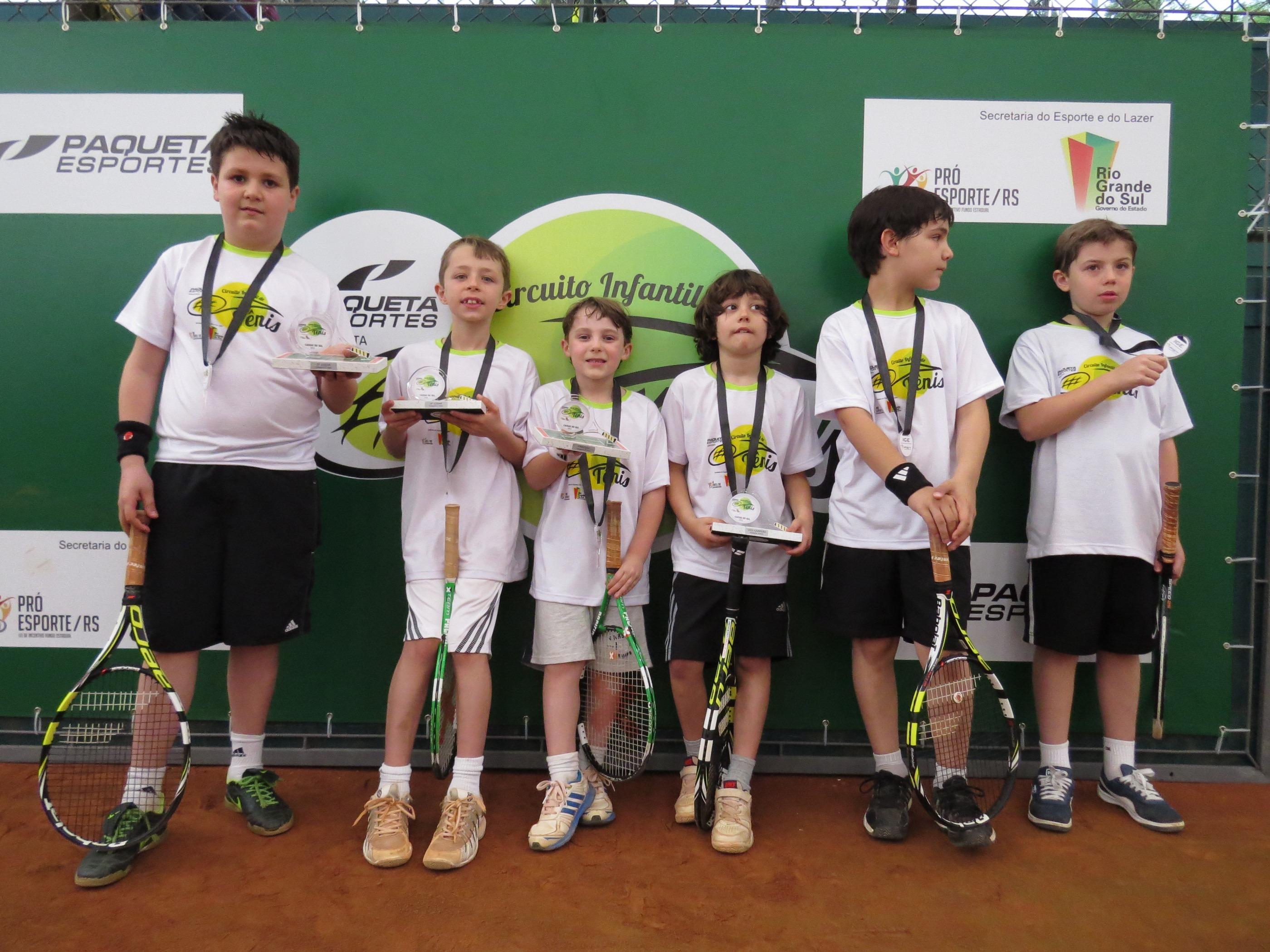 9faf887f0bb Definidos os vencedores da etapa de Caxias do Sul do Circuito Infantil de  Tênis